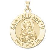 Saint Elizabeth  Mary s Cousin  Religious Round Medal   EXCLUSIVE