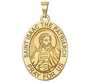 Saint Isaac the Patriarch OVAL Religious Medal   EXCLUSIVE