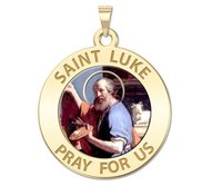 Saint Luke Religious Medal  color EXCLUSIVE