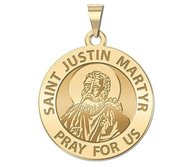 Saint Justin Martyr Religious Medal   EXCLUSIVE