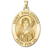 Saint Philomena Oval Religious Medal  EXCLUSIVE