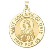 Saint Adelaide of Italy Round Religious Medal    EXCLUSIVE