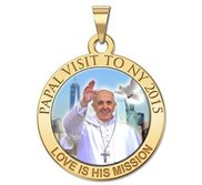 Pope Francis Papal NY Visit 2015    Love Is His Mission  Color Laser Medal