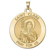 Saint Clare of Assisi Religious Medal    EXCLUSIVE