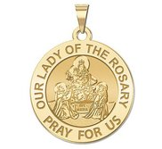 Our Lady of the Rosary Religious Medal   EXCLUSIVE