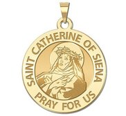 Saint Catherine of Siena Round Religious Medal    EXCLUSIVE