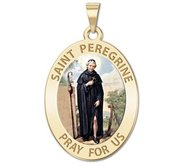 Saint Peregrine   OVAL  Color EXCLUSIVE