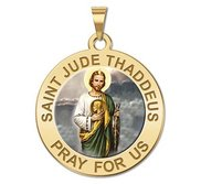 Saint Jude Religious Medal   Color EXCLUSIVE
