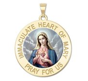 Immaculate Heart of Mary Religious Medal  Color EXCLUSIVE