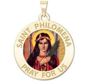 Saint Philomena Round Medal  Color EXCLUSIVE