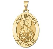 Saint Jennifer Religious Oval Medal  EXCLUSIVE