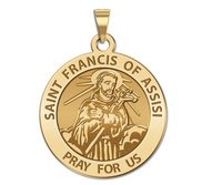 Saint Francis of Assisi Traditional Religious Medal  EXCLUSIVE