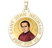 Saint John Neumann Religious Medal  color EXCLUSIVE