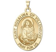 Saint Rosalina of Villeneuve Oval Religious Medal  EXCLUSIVE