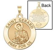 Saint Gerard  Expecting Mother  Prayer Double Sided Religious Medal