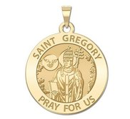 Saint Gregory Round Religious Medal  EXCLUSIVE