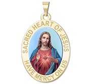 Sacred Heart of Jesus Religious Medal   Color EXCLUSIVE
