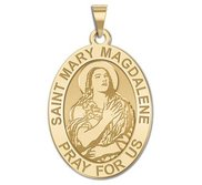 Saint Mary Magdalene Religious Oval Medal  EXCLUSIVE