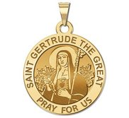 Saint Gertrude The Great Religious Medal     EXCLUSIVE