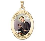 Saint Gerard Religious Medal   Color EXCLUSIVE
