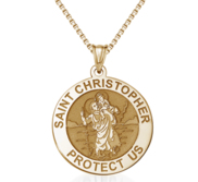 Saint Christopher Religious Round Medal    EXCLUSIVE