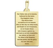 Rectangle with  Lord s Prayer  Block Pendant