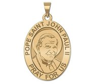 Pope Saint John Paul II Oval Religious Medal  EXCLUSIVE