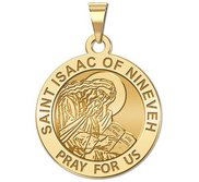 Saint Isaac of Nineveh Round Religious Medal   EXCLUSIVE