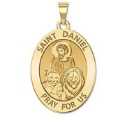 Saint Daniel OVAL Religious Medal   EXCLUSIVE