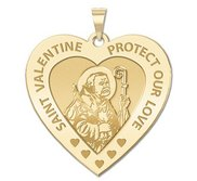 Saint Valentine Heart Shaped Religious Medal   EXCLUSIVE