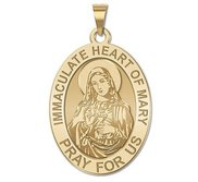 Immaculate Heart of Mary Oval Religious Medal  EXCLUSIVE