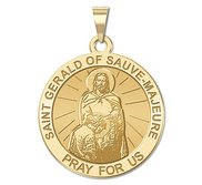 Saint Gerald of Sauve Majeure Religious Medal  EXCLUSIVE