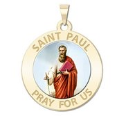 Saint Paul Religious Medal  Color EXCLUSIVE