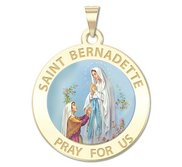 Saint Bernadette Religious Medal   Color EXCLUSIVE