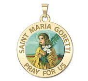 Saint Maria Goretti Religious Color Medal  EXCLUSIVE