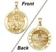 Saint Adjutor Doubles Sided Male Swimmer Religious Medal    EXCLUSIVE