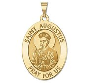 Saint Augustus Oval Religious Medal  EXCLUSIVE