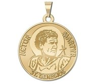 Saint Genesius Round Religious Medal  Actor   Martyr   EXCLUSIVE