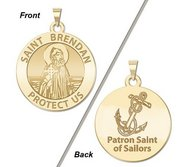 Saint Brendan Double Sided Sailors Religious Medal    EXCLUSIVE