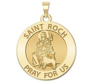 Saint Roch Religious Medal  EXCLUSIVE