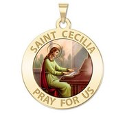 Saint Cecilia Religious Medal    Color EXCLUSIVE
