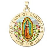 Our Lady of Guadalupe Religious Medal   Color EXCLUSIVE