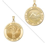 Girl Swimmers   Saint Sebastian Doubledside Sports Religious Medal  EXCLUSIVE