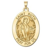 Saint Ruth Religious Medal   Oval  EXCLUSIVE