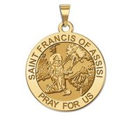 Saint Francis of Assisi Religious Medal   Receiving Stigmata  EXCLUSIVE