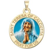 Saint Teresa of Calcutta Religious Medal  EXCLUSIVE  In Color
