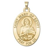 Saint Mary of Egypt OVAL Religious Medal   EXCLUSIVE