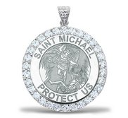 Saint Michael CZ Religious Medal    EXCLUSIVE