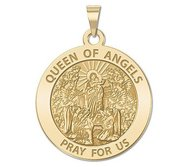 Queen of Angels Religious Medal  EXCLUSIVE