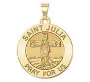 Saint Julia of Corsica Religious Medal   EXCLUSIVE